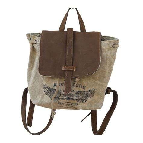 Adventure Tote Bag adventure backpack re purposed canvas tote bag by clea