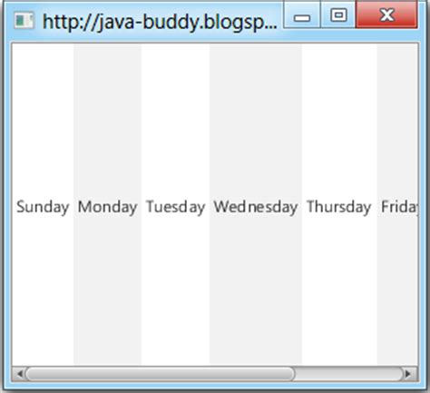Javafx Horizontal Layout | java buddy set javafx listview orientation in horizontal
