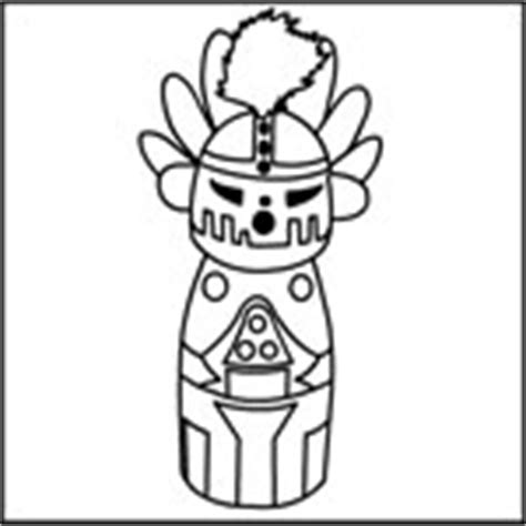 kachina doll coloring page do2learn educational resources for special needs