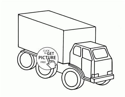 truck coloring page for preschoolers easy truck coloring page for preschoolers transportation