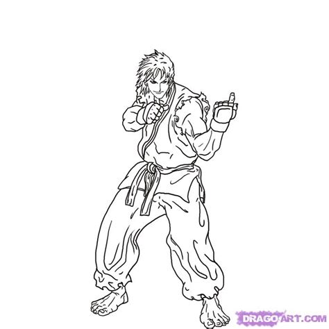 Free Coloring Pages Of Ryu Street Fighter Fighter Coloring Pages
