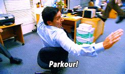 the office andy bernard parkour office sincerelyyoursbabe