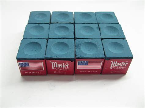 new one dozen 12 pieces blue master chalk billiard pool