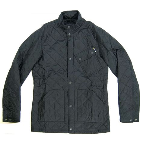 Black Quilted Jacket by Barbour Scrambler Quilted Jacket Black Mens Jackets From