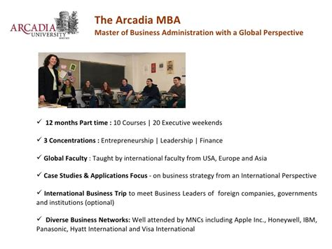 Mba Arcadia by Top Ranked Us Mba From Arcadia Pennsylvania In