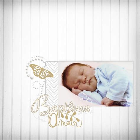 scrapbook layout ideas baby christening cotton flower digital scrapbooking kit fall in love with