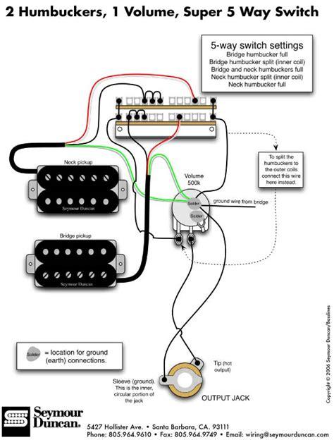 wiring diagram free 2 humbucker 5 way switch