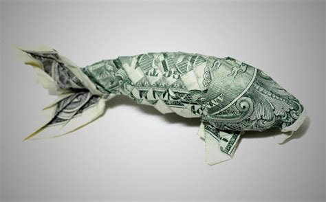 Origami Dollar Fish - 20 cool exles of dollar bill origami bored panda
