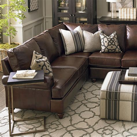brown leather sectional sofa leather montague l shaped sectional