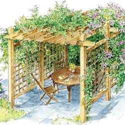How To Build A Small Pergola by Wood Swing Plans Build Your Own Arbor