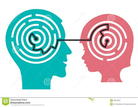 understanding illustration labyrinth in the head of child stock vector image 48979524
