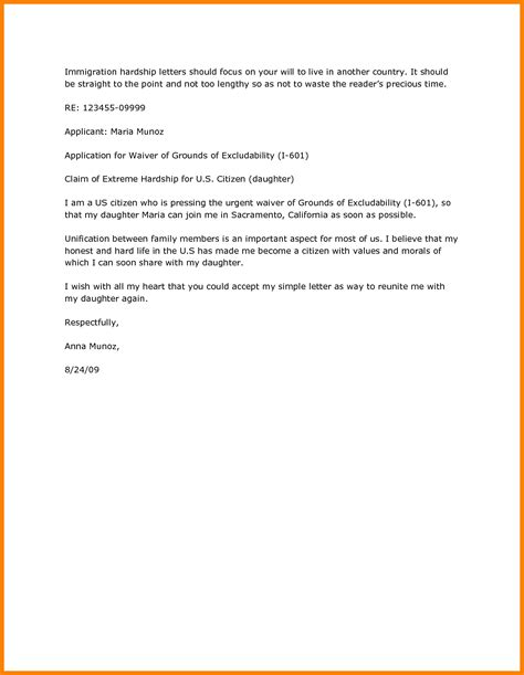 Hardship Letter For Visa cover letter for i601 waiver