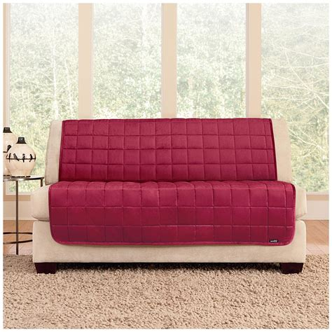 armless couch slipcover sure fit 174 quilted velvet furniture friend armless loveseat