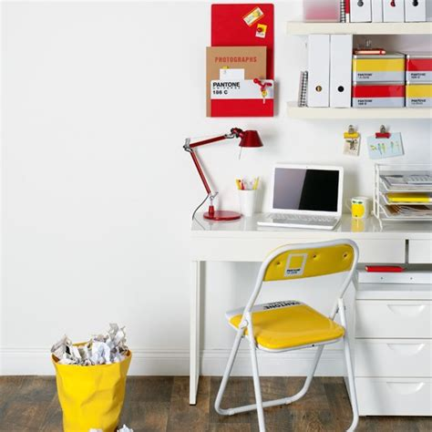 Home Office Desk Accessories Uk White Office With Bright Accessories Colourful Home