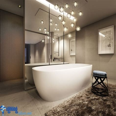 Hanging Light Fixtures For Bathrooms Bathroom Lighting Ideas Bathroom With Hanging Lights Bathtub Bath Pinterest Bathtubs
