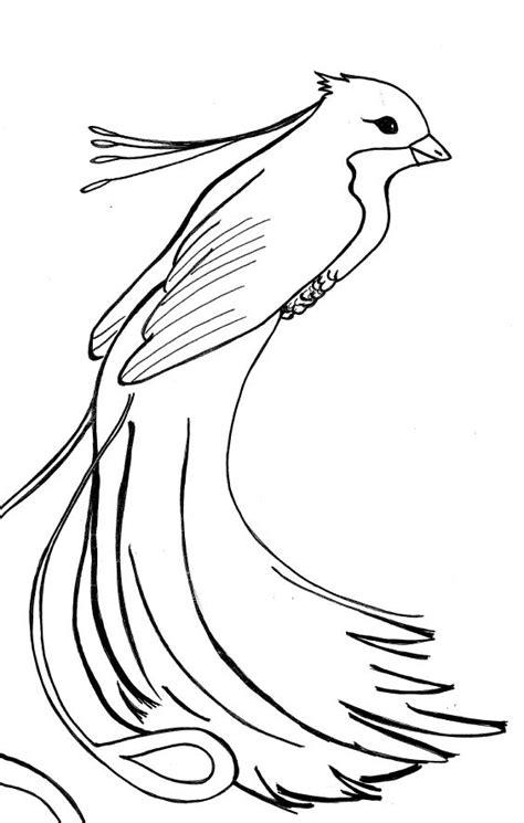 color phoenix bird coloring pages