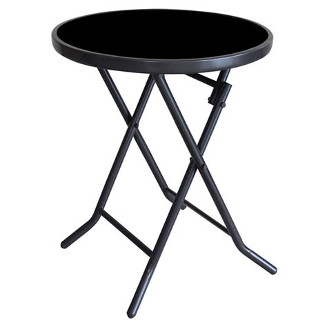 table ronde patio uberhaus table d appoint ronde pour patio pliante 19 quot s