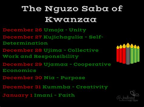 colors of kwanzaa traditions the sits