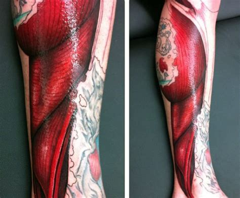 tattoo back muscle 70 muscle tattoo designs for men exposed fiber ink ideas