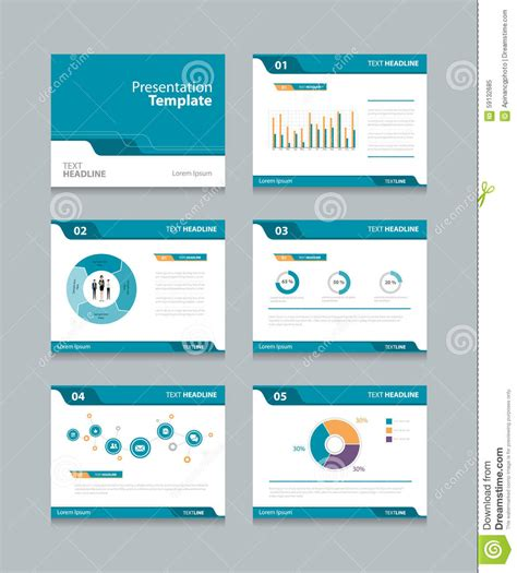 vector template presentation slides background design info
