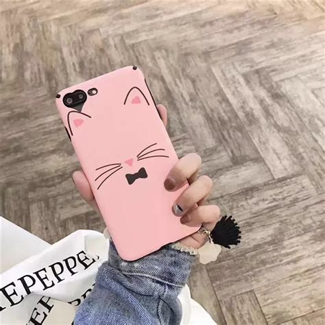 Oppo F3 A77 Softcase Pink pink cat soft silk phone for oppo f3 a77 a59 f1s glitter