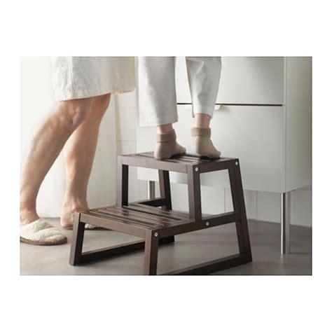 ikea step molger step stool dark brown 41x44x35 cm ikea