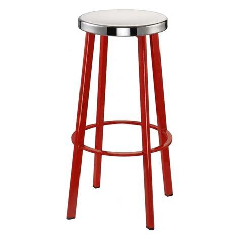 steel bar stool buy red contemporary metal bar stool with circular steel seat