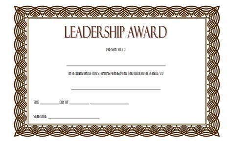 Leadership Award Certificate Template 7 The Best Template Collection Leadership Certificate Template Free