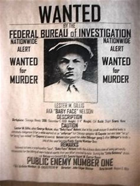 1920s wanted posters 5 6 american studies