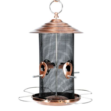 woodlink brushed copper nyjer thistle bird feeder by