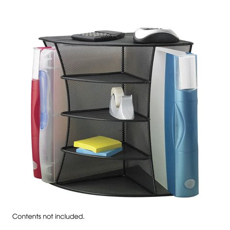 corner desk tops onyx mesh desk corner organizer safco products