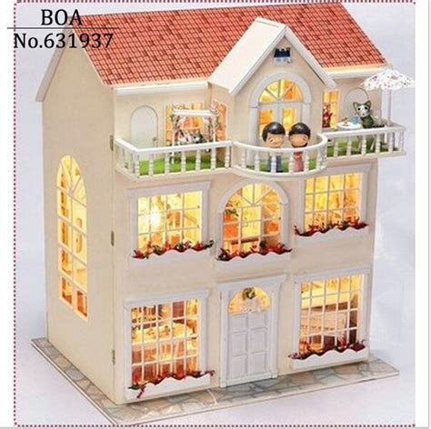 Handmade Wooden Doll Houses For Sale - diy doll house miniature model building kits handmade
