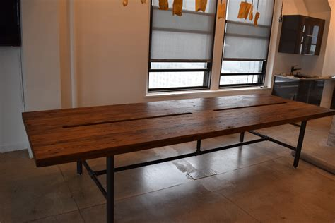 Reclaimed Wood Conference Table Handmade Reclaimed Wood Conference Table With Pipe Legs By Reworx Usa Custommade