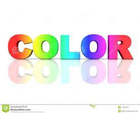 the word color in rainbow colors stock photos image