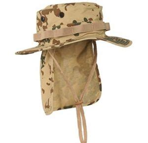 tropical camo boonie hat  flap   shipped