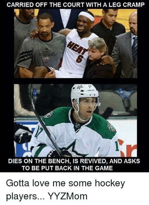hockey player dies on bench revived carried off the court with a leg cramp dies on the bench