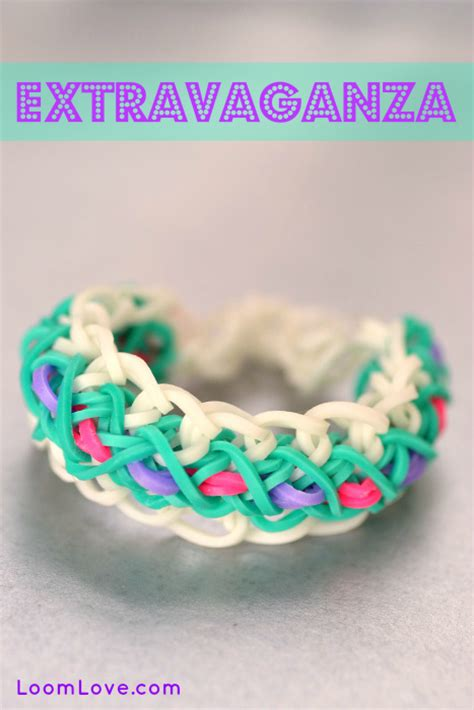 How to Make a Rainbow Loom Extravaganza Bracelet