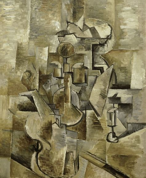 the establishment of cubism georges braque violin and candlestick 1910 artsy