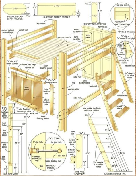 plans for bunk bed log bunk bed plans