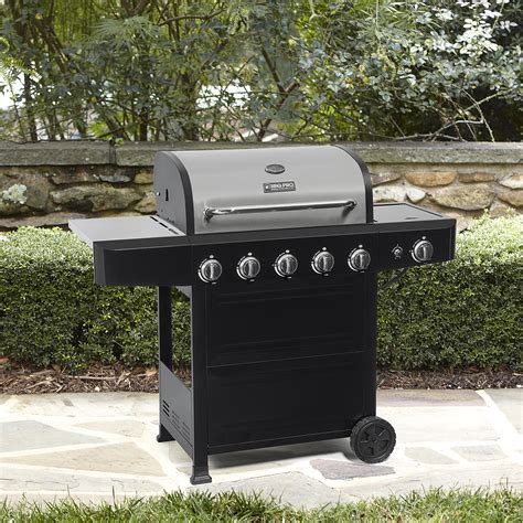 bbq pro 5 burner gas grill with side burner with stainless