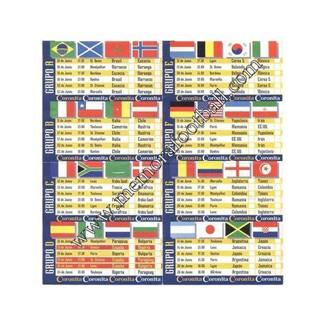 Calendario Alemania 2006 Calendario Fifa World Cup 1998 Memora Football