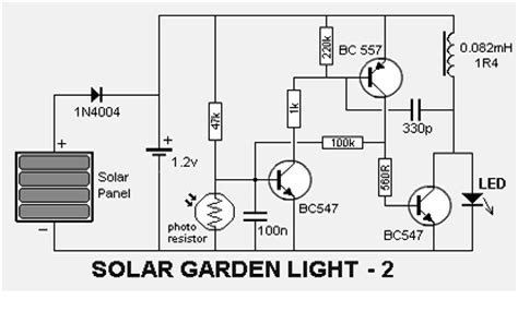 solar garden light circuit schematic diagram circuit