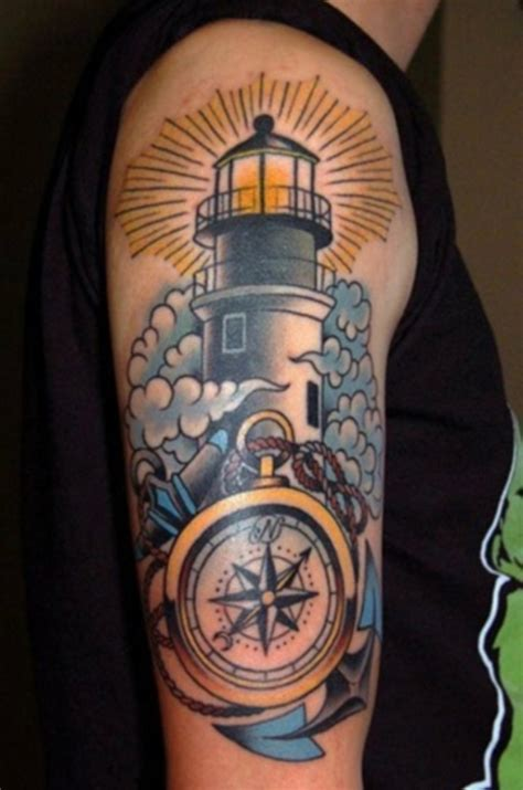 compass lighthouse tattoo 20 lighthouse tattoos tattoofanblog