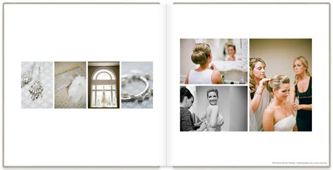 wedding photo album layout design a classic album design for an elegant wedding plumeria