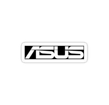 Tshirt Asus Logo quot asus logo black white quot stickers by zwiebula redbubble