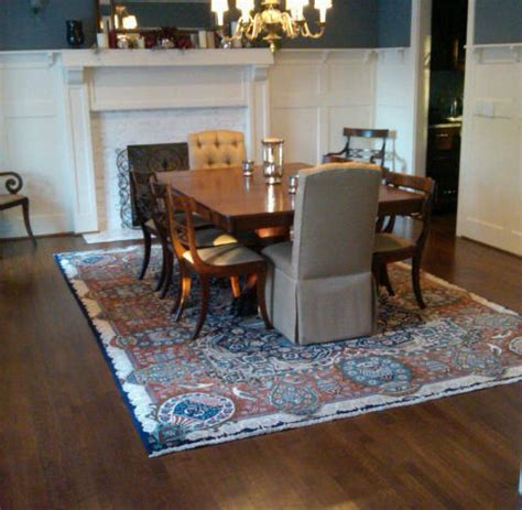 Dining Table Rug by What Size Rug To Use For Your Dining Room