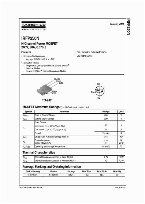 transistor mosfet irfp250n irfp250n 1975323 pdf datasheet ic on line