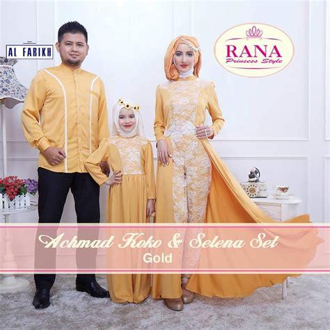 Gaun Gold 112 baju muslim keluarga baru gaun pesta muslim pusat