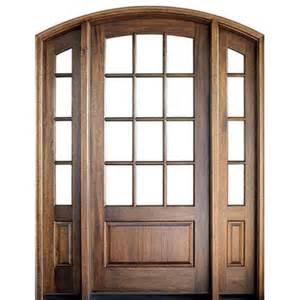 12 Lite Exterior Door Dsa Doors Tdl 12lt E 18 Pre Hung 12 Lite Tdl Arch Top Mahogany Entry Door With Matching