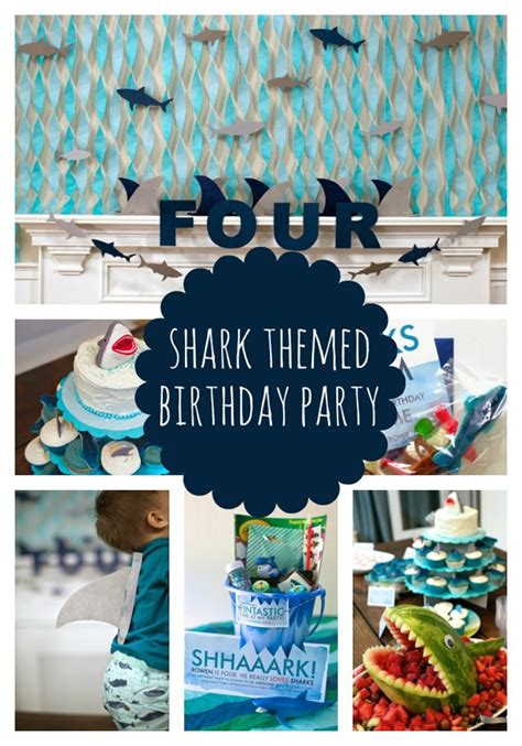 baby shark themed party sweet shark birthday party